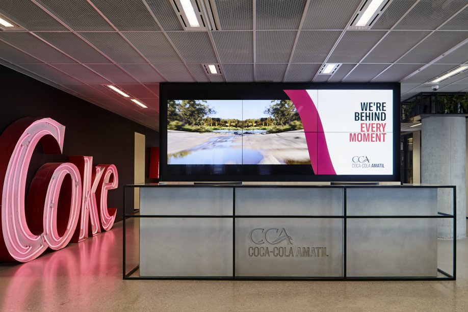 coca cola office design sydney